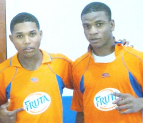 Fruta Conquerors scorers from left to right- Dwayne Lawrence and Eon Alleyne.