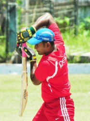 Berbice captain Sewnarine Chattergoon looking solid during his knock