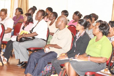 A section of the gathering at the launch of the Early Childhood Development (ECD) Programme yesterday.