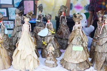 Some of the decorative dolls the women made during the two-week course