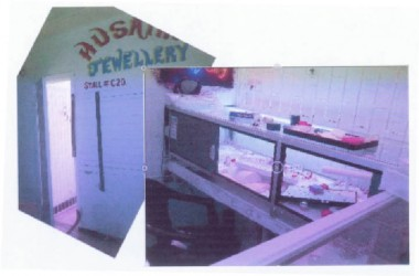 The empty cases after the robbery