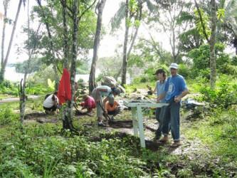 Excavation at Fairview Village, Iwokrama