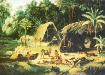 From a painting of Amerindians by W S Hedges c 1836