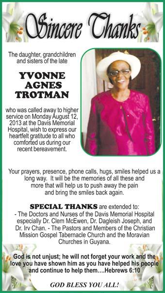 Yvonne Trotman