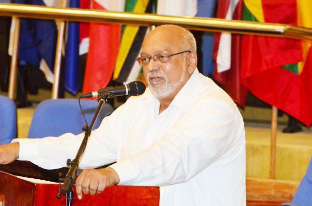 President Donald Ramotar addressing the forum