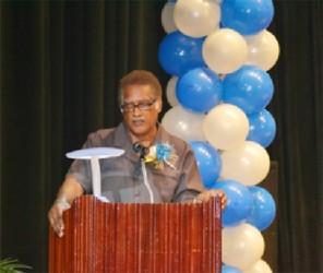 SCCP Coordinator, Aubrey Overton addressing the students (GINA photo)
