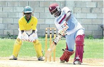 West Indies Women's batter Deandra Dottin in action during the team's practice match against Jamaica Under-17 boys team.(picture courtesy Jamaica Observer)