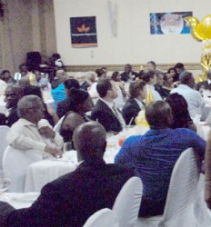 Some of the guests at Wednesday evening's GMSA Anniversary dinner