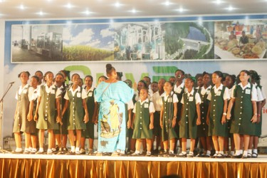 The Success Elementary School Choir performs during the opening ceremony.
