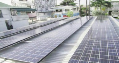Solar panels installed on the shed at the GEA's headquarters (GEA photo)