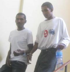Ramnarine Jagmohan (left) and Neshan Jagmohan