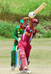 Mehedy Miraj tormented the West Indies U19 batsmen bagging a five for. (Orlando Charles photo)