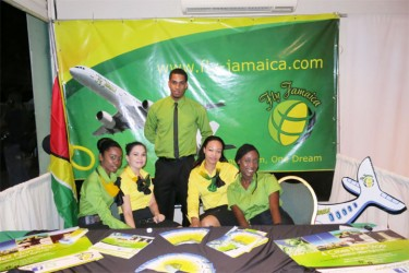 The Fly Jamaica booth at GFW's exhibition
