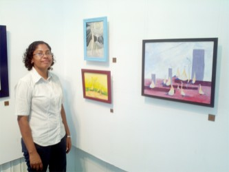 Tara Bentick and some of her pieces