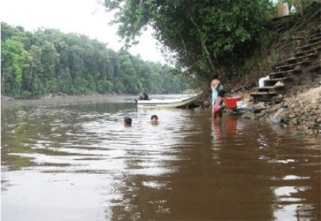 Swimming in the Isseneru River