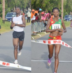 Winners! Cleveland Forde and Grenada's Kenisha Pascal. (Orlando Charles' photos)