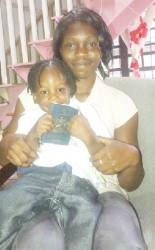 Rosinda Nicholson and her son Elijah Harris