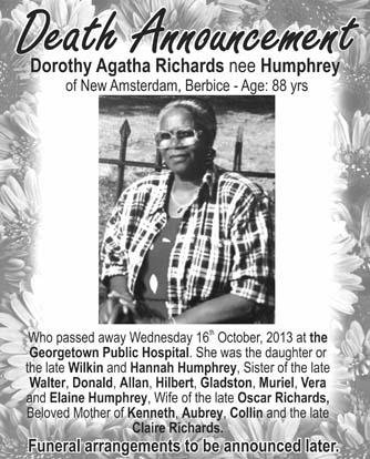 Dorothy Richards nee Humphrey