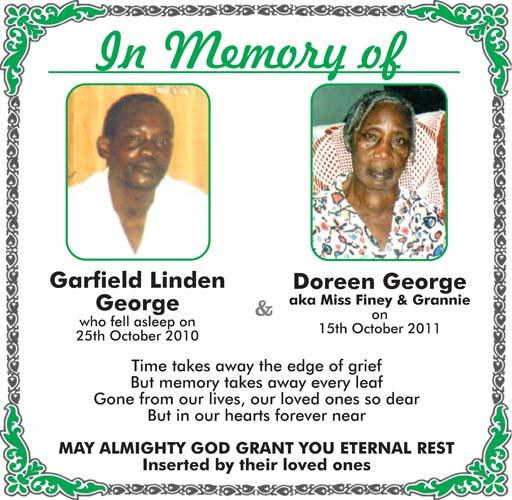 Garfield George & Doreen George aka Miss Finey & Grannie