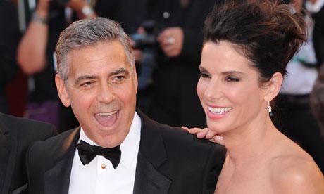 Gravity premiere - Bullock, Clooney