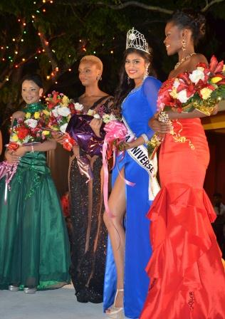 Final Four: From right to left: Alicia Bess, Katherina Roshana, Ayana Whitehead and Carlea Chappel