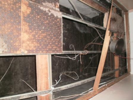One of the photos of the wiring in the building released by the Fire Service today.
