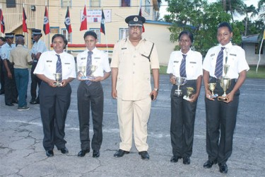 Assistant Commissioner Balram Persaud with winning team, Immigration 'B'