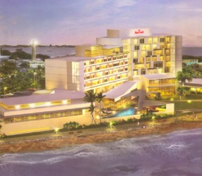 An artist's impression of what the completed Marriott Hotel will look like