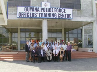 The police ranks and their trainers (Police photo)