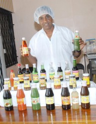 Prestige CEO Ram Prashad with a display of products at the company's Eccles factory