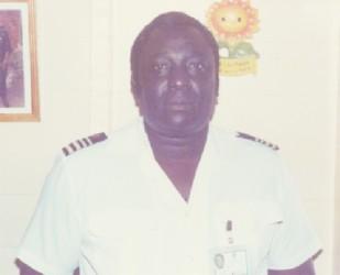 Gordon Alleyne in his younger days in uniform.