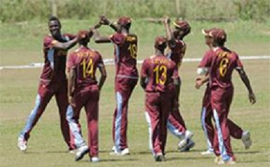Members of the West Indies Under 19 team