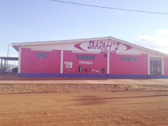 One of Deen's businesses, Saarah's Super Store at Lethem