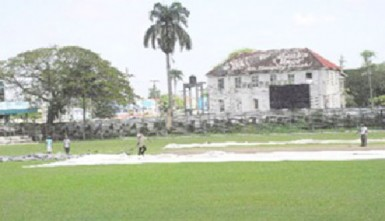 The Bourda Ground with the GFC in the background  (SN file photo)