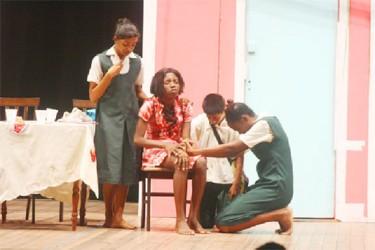 Leonora Secondary perform at the drama festival (SN file photo)