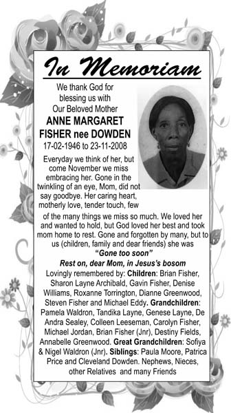 Anne Fisher nee Dowden