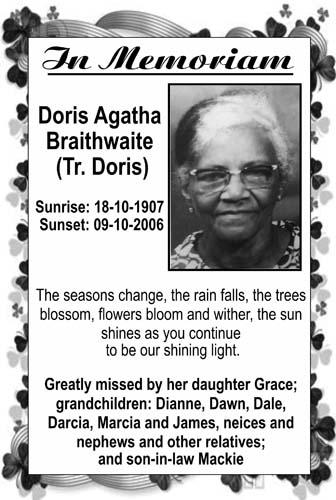 Dois Braithwaite (Tr. Doris)