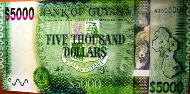 The new $5,000 bill will go into circulation on December 9th, 2013.