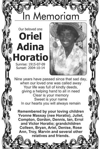 Oriel Horatio