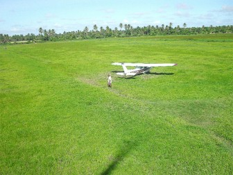 This is the rice field that the plane crash-landed on two years ago