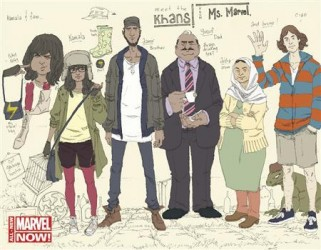 A new Marvel Comics cover shows Ms Marvel as Kamala Khan (2nd L), the 16-year-old daughter of Pakistani immigrants, in this undated handout provided by Marvel Comics.