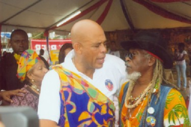 Ras Leon with Hatian President Michel Martelly