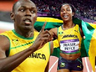 Usain Bolt and Shelly-Ann Fraser Pryce