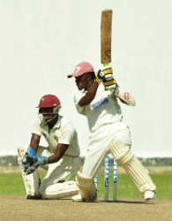 Jason Sinclair goes through the off-side during his innings of 60