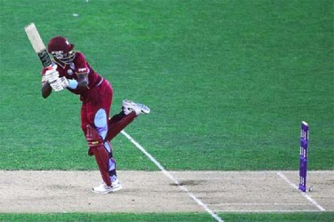 Darren Sammy smashed a 27-ball 43 to guide West Indies to victory. (ICC photo)