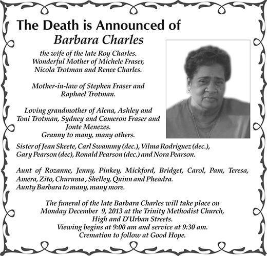 BARBARA CHARLES