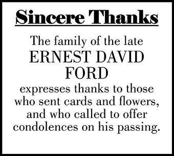 ERNEST DAVID FORD