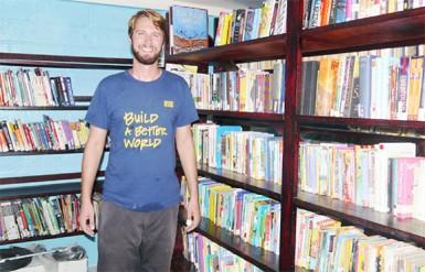 Matthew Cusimano in the Sandvoort Library