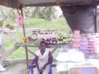Roadside vendor in the community