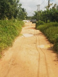 The latter half of Alliance Road that is not being repaired